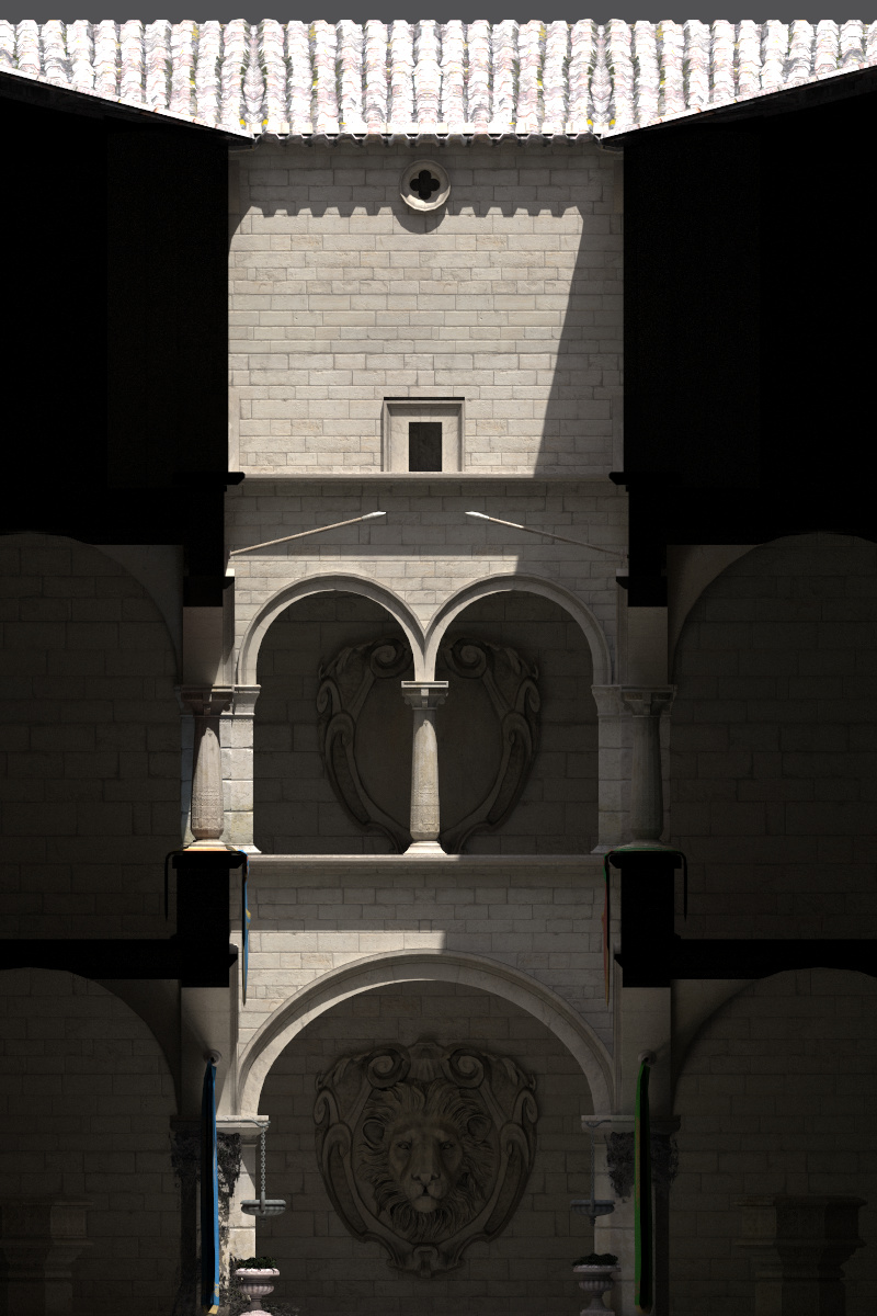 Example image created with the orthographic camera.