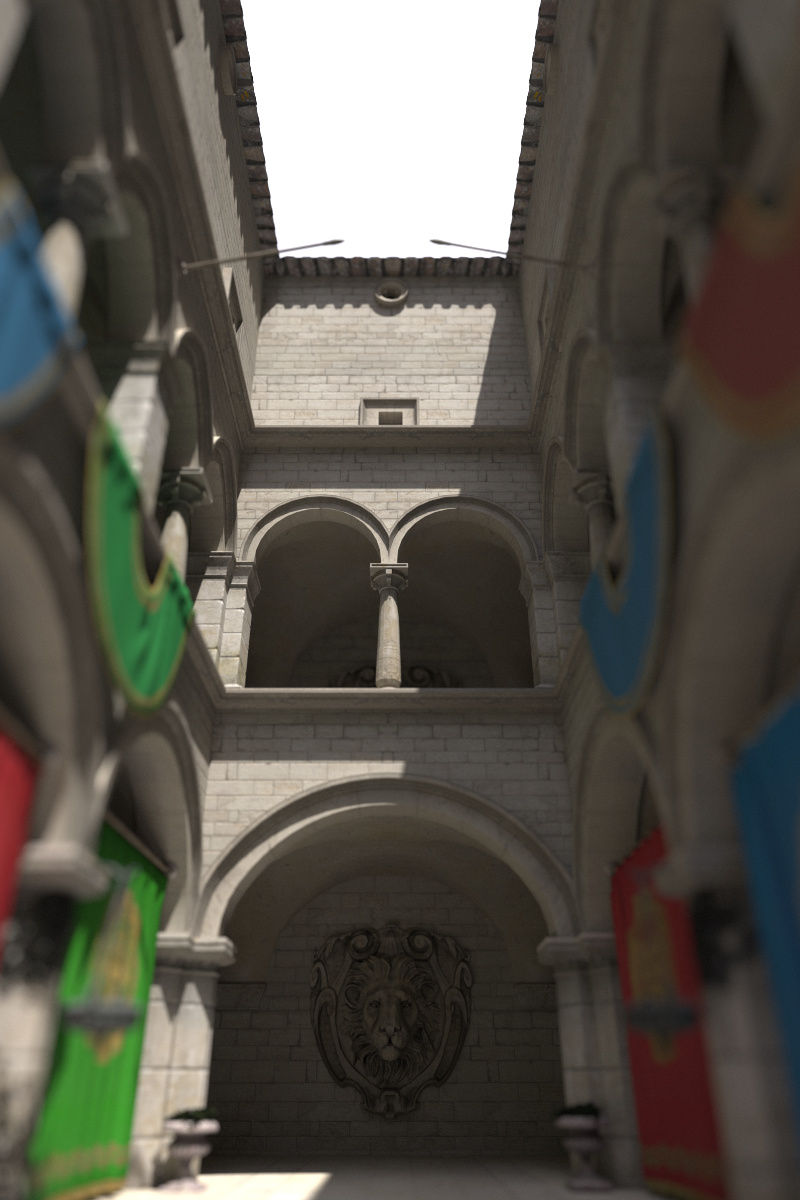 Example image created with the perspective camera, featuring depth of field.